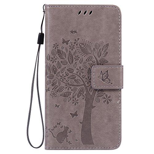 Nancen Compatible with Handyhülle LG G5 / H868 (5,3 Zoll) Flip Schutzhülle Zubehör Lederhülle mit Silikon Back Cover PU Leder Handytasche