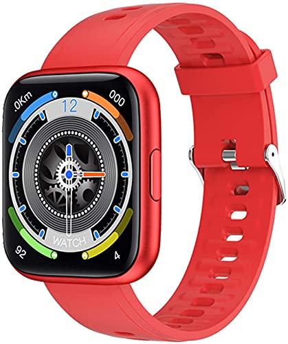 ALXLX Smart Watch Fitness Tracker con Ritmo Cardíaco Monitor De Presión Arterial Sensor Táctil Completo Podómetro para Android iOS P8plus, D
