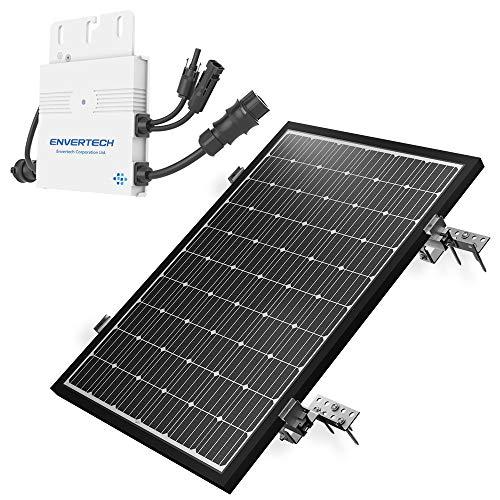 Mini Solaranlage 300 Watt Solarstrom für Eigenverbrauch | Plug & Play Komplettset | Montagematerial für Schrägdach | solar-pac PV