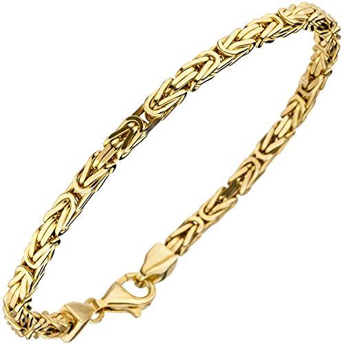 JOBO Damen Königsarmband 925 Sterling Silber gold vergoldet diamantiert 19 cm Armband