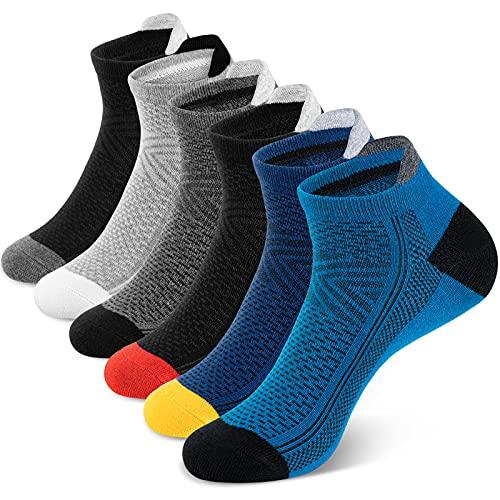 Newdora Socken Herren 6 Paar Baumwolle Socken Kurzsocken Atmungsaktiv Hochleistung für Outdoor, Business Arbeits, Yoga und Zuhause 43-46