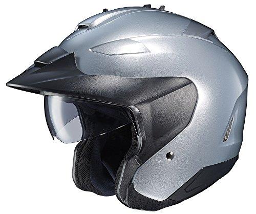 HJC IS-33 II Open-Face Motorcycle Helmet (Silver, X-Large)