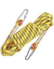 多用途ロープ 多機能ロープ 多目的ロープ 補助ロープ 安全ロープ 引越し 荷物の吊上げ アルミカラビナ付 防水性 頑丈 アウトドア キャンプ 防災