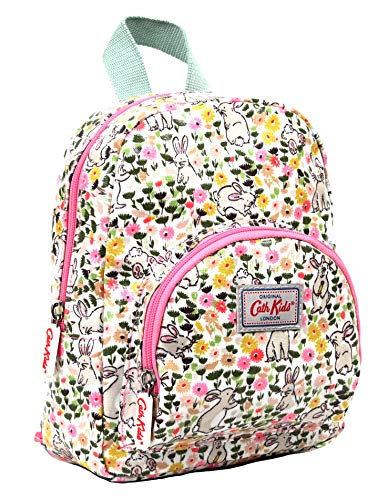 Cath Kidston Mini Rucksack Backpack Bunny Meadow in Linen White Oilcloth