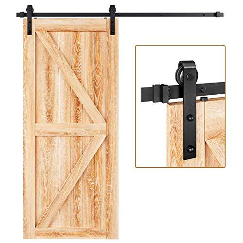 EaseLife 6 FT Heavy Duty Sliding Barn Door Hardware Track Kit,Ultra Hard Sturdy,Slide Smoothly...