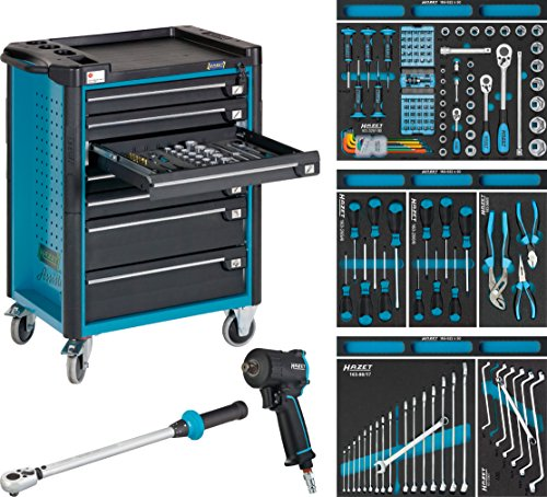 Hazet Werkstattwagen Assistent mit Sortiment 179-7/145 flach: 5x 74 Schubladen hoch: 2x...