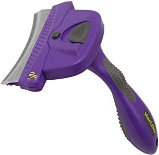 Hertzko Self Cleaning Deshedding Comb by Dramatically Reduces Shedding up to 95% - Suitable for Small, Medium, Large, Dogs...