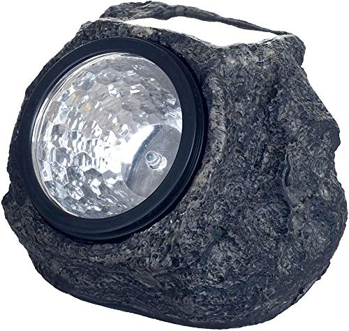 YAYY LED Solar Rock Landscaping Lights - Set of 2 by Pure Garden(Upgrade)