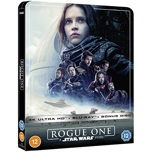 ROGUE ONE: A STAR WARS STORY 4K ULTRA HD LIMITED EDITION STEELBOOK / IMPORT / INCLUDES BLU RAY AND BONUS DISC / REGION FREE.