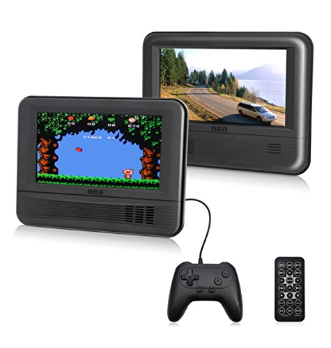 """Great Features Of RCA (DRC69705E28G) - 7"""" Dual Screen Mobile DVD Player System & Game Pad - Set of..."""