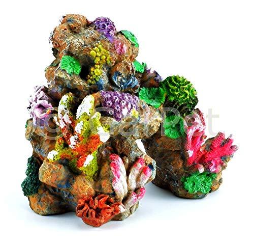 Happet Aquarium Deko Korallenriff Koralle Dekoration Korallen Riff Stein Meerwasser