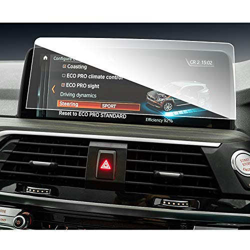 SHAOHAO Protector de pantalla de navegación para BM W X4 G02 X3 G01 de 10,25 pulgadas GPS, transparente, resistente a los arañazos 9H antihuellas