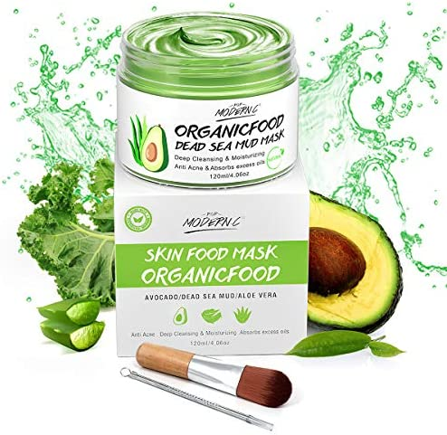 Organic Avocado Vegan Dead Sea Mud Mask Nourishing Hydration Deep Cleansing Relaxing Hydrating product image