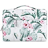 MOSISO Laptop Sleeve Compatible with 13-13.3 inch MacBook Air, MacBook Pro, Notebook Computer, Polyester Pattern Multifunctional Briefcase Carrying Bag, Banana Leaf