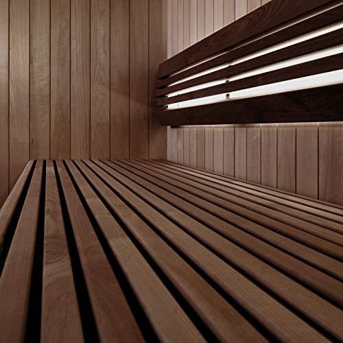 Sauna-Licht Indirekt ProfiTube, bis 125°C, LED Warm-Weiss 2700K, Wasserfest IP44 (1 x 203cm, mit Dimmer)