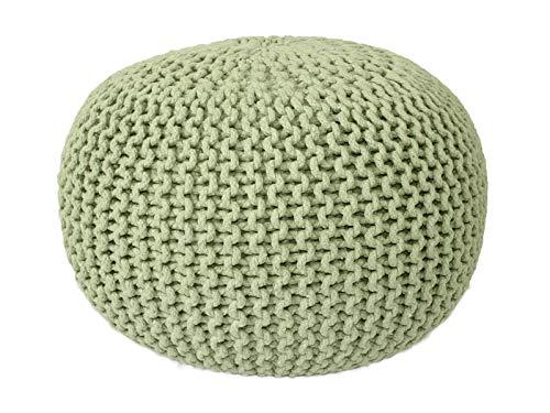 Taburete Knitting Pouf Pouffe Pouf Grobstrick óptica neón Ø 55 cm de Altura 37 cm Extra de Color de Alta Densidad