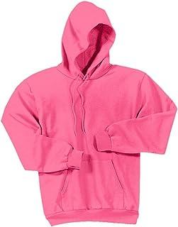 Joe's USA - Hoodies-Pullover Hooded Sweatshirt-Neon.Pink-S