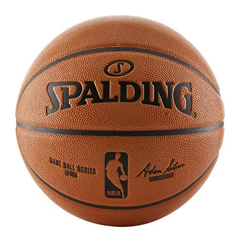 Spalding NBA Replica Indoor/Outdoor Basketball , Orange, Intermediate Size 6 (28.5