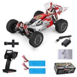 GoolRC Wltoys Remote Control Car XKS 144001 1/14 RC Car High Speed Racing Car 2200mAh Battery 60km/h 2.4GHz RC Buggy 4WD Off-Road Drift Car RTR 2 Batteries Red