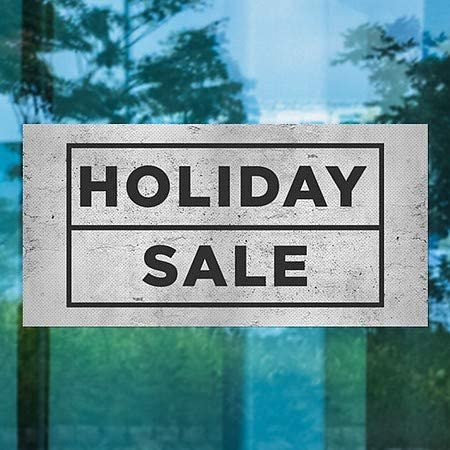 96x48 Basic Gray Perforated Window Decal CGSignLab Holiday Sale