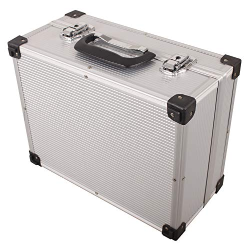 Lakot L-80-003, Maleta de aluminio para herramientas (16 x 26 x 33.5 cm), color plata