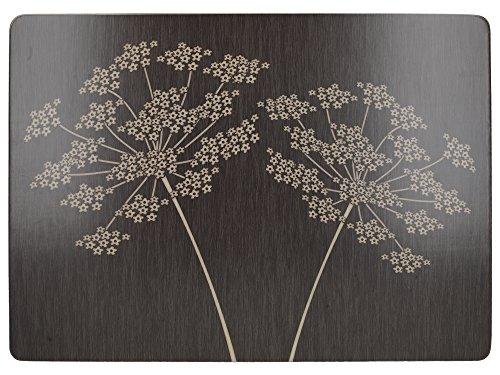 Creative Tops Silhouette Premium-Tischsets mit Korkrückseite im 4-teiligen Set, 40 x 29 cm (15¾ x 11½ Zoll)