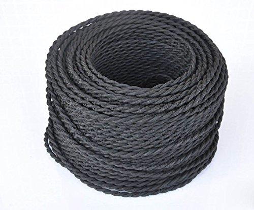 buenos comparativa Cable trenzado vintage de 5 m, cable de iluminación de seda trenzado de 2 núcleos, color… y opiniones de 2021