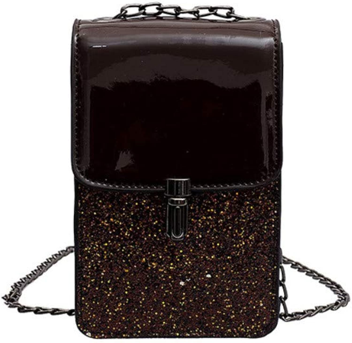CLEBAO Trend, Sequins, Texture, one Shoulder, Crossbody, Small Square Bag