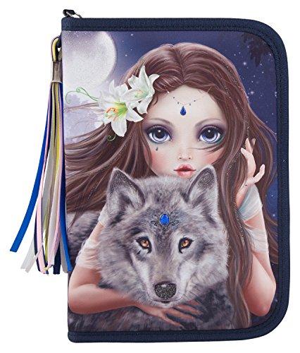Top Model 6420 Fantasy Model Federtasche DeLuxe, Bunter Wolf
