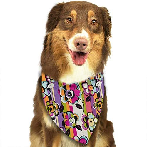iuitt7rtree Halstuch, waschbar, abstrakte Spritzer und Blumen, Dreieck, einzigartig, nie veraltet, für Haustiere, Katzen und Hunde