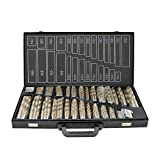 230 Teiliges Metallbohrer Set 1-13mm Spiralbohrer Satz Titan beschichtet DIN338