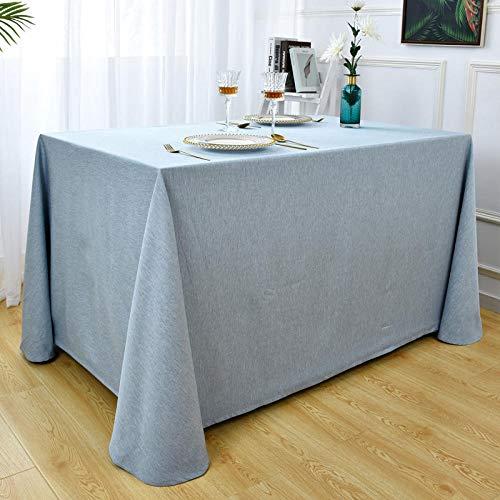 XQSSB Mantel Lavable Rectangular Resistente Suave Transpirable Fácil de Limpiar para Jardín Habitaciones Azul Claro 210 × 280cm