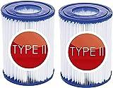 LXTOPN Cartuchos de filtro tamaño II de repuesto para Bestway tipo II, filtro de limpieza de piscina para Bestway 58094 y piscina 530/800 GAL/h (2 unidades)