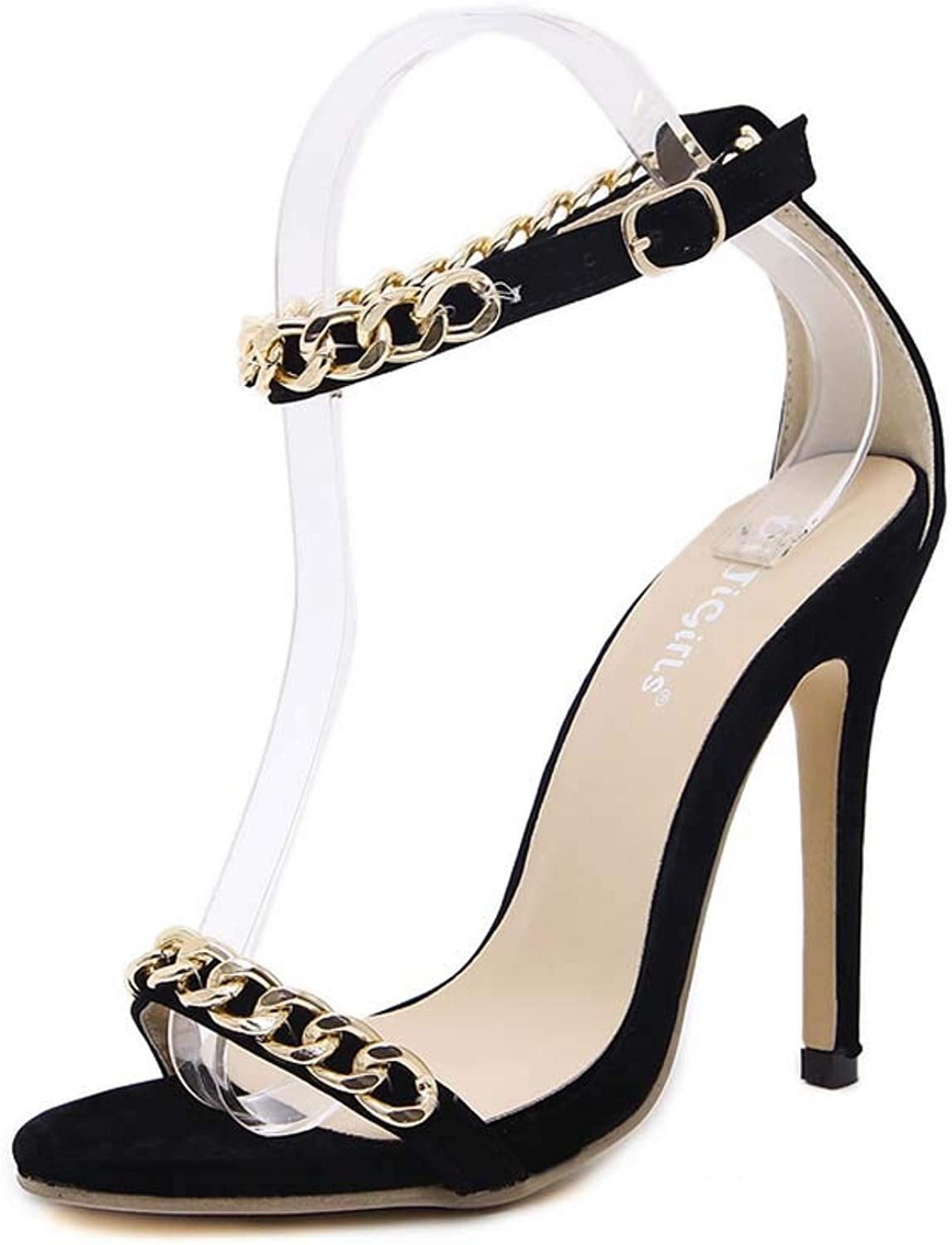 Women Ankle Strap Sandals,Stiletto Heel Open-Toe High Heels,Buckle Prom Party shoes