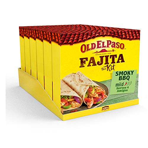 Old El Paso Fajitas Ursprüngliche Smoky BBQ Kit (500g) - Packung mit 6