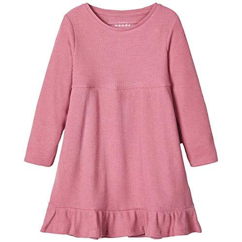 NAME IT Kinder NMFVESTA LS Dress B Langarm Kleid aus Baumwolle 104 Heather Rose