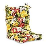 South Pine Porch AM4809-ALOHA-BLACK Aloha Black Floral Outdoor High Back Chair Cushion