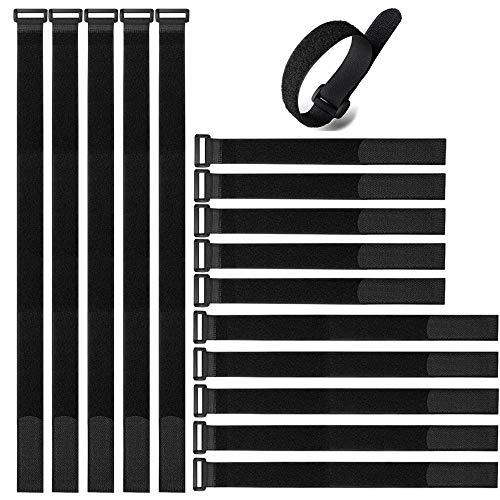 Aiqeer 30 Piezas Reutilizables Cable Ties Set, Bridas de Velcro, Gancho Bucle...