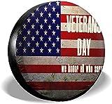 New Damsel Vintage Veterans Day USA Flagge Reserverad Reifen Abdeckung Korrosionsschutz für 14 ', 15', 16 ', 17' 'Reifendurchmesser