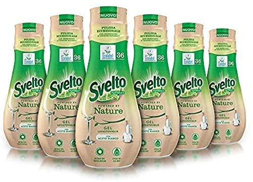 Svelto Ecolabel - Gel para lavavajillas con vinagre, paquete ahorro, 216 lavados
