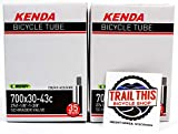 Trail This 2 Pack K E N D A 700 x 30/43 (27 x 1-1/8' - 1-3/8') Gravel Bicycle Tubes