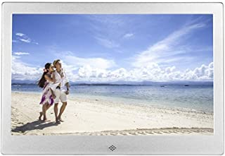 Metal Digital Photo Frame 13 inch, Electronic Picture Frame USB SD/SDHC. MP3 / MP4 Player Support Clock & Calendar Functio...