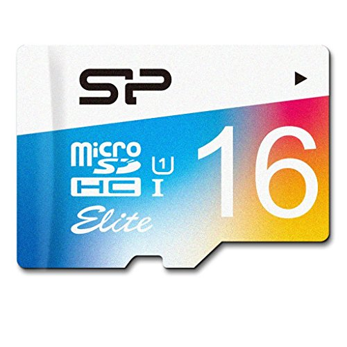 Silicon Power SP016GBSTHBU1V20AE Carte mémoire Flash Elite 16 Go, jusqu'à 85 Mo/S MicroSDHC UHS-1 Class10, Carte mémoire Flash Elite