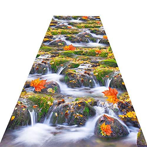 ZWRYW Tappeti Runner Tappeto Passatoia Corridoio Carpet Ingresso Zerbino 3D Modello Emozionante Morbido Bagno Balcone Finestra A Bovindo Poggiapiedi Facile Manutenzione