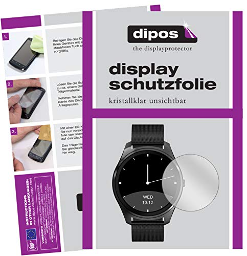 dipos I 6X Schutzfolie klar kompatibel mit DIGGRO DI03 Smartwatch Folie Displayschutzfolie