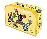 Kinderkoffer Der kleine Maulwurf Spielzeugkoffer Pappkoffer gelb medium: Motiv Erdbeeren mit Metallhenkel und Metallverschluss