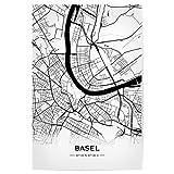artboxONE Poster 30x20 cm Automobile Basel Retro Map