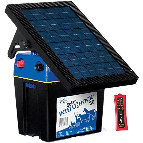 Premier Solar IntelliShock 30 Fence Energizer Kit - Includes Fence & Battery Digital Tester