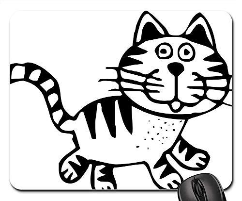 25X30cm Alfombrilla de Ratón Gato Atigrado Felino Animal Dibujo Contenido PNG