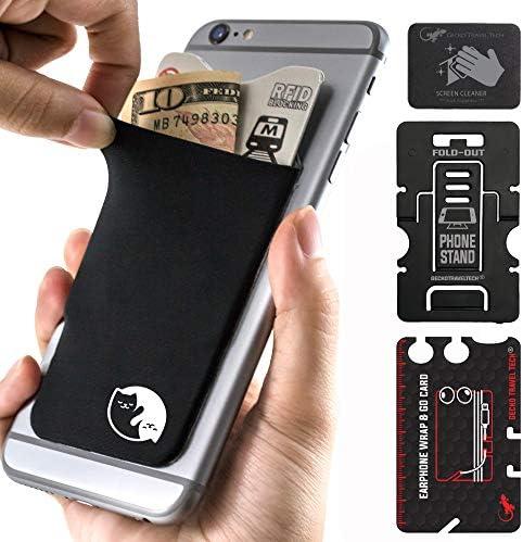 Gecko Travel Tech Mobile Phone cardholder Yin Yang Cat Phone Card Holder Yin Yang Cat product image